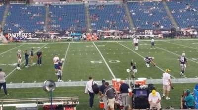 Gillette Stadium, sección: 110, fila: 13, asiento: 5