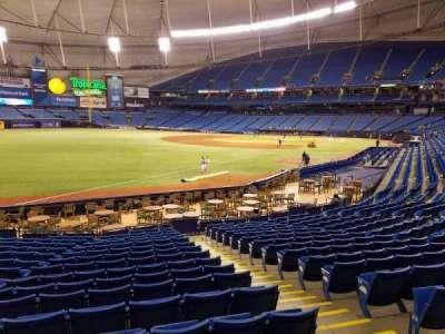Tropicana Field, sección: 135, fila: Y, asiento: 12