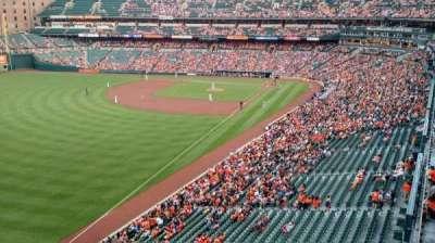 Oriole Park at Camden Yards, sección: 376, fila: 1, asiento: 1