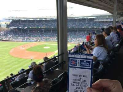 Wrigley Field, sección: 505, fila: 3, asiento: 108