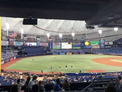 Tropicana Field, sección: 129, fila: TT, asiento: 12