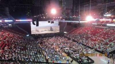 Toyota Center, sección: 420, fila: 1, asiento: 15