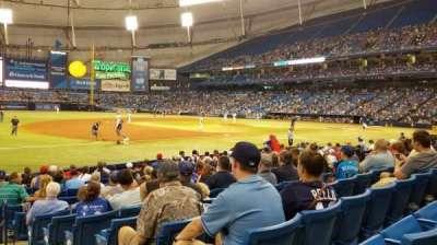 Tropicana Field, sección: 125, fila: P, asiento: 10