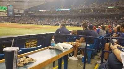 Tropicana Field, sección: 125, fila: D, asiento: 7