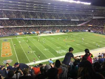 Soldier Field, sección: 342, fila: 15, asiento: 7
