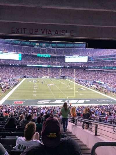 MetLife Stadium, sección: 103, fila: 26, asiento: 4