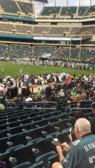 Lincoln Financial Field, sección: 138, fila: 18, asiento: 12