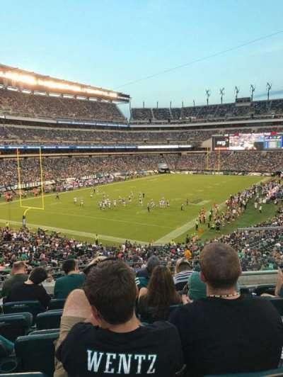 Lincoln Financial Field, sección: 132, fila: 41, asiento: 5
