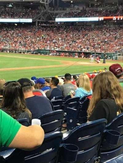 Nationals Park, sección: 114, fila: V, asiento: 7