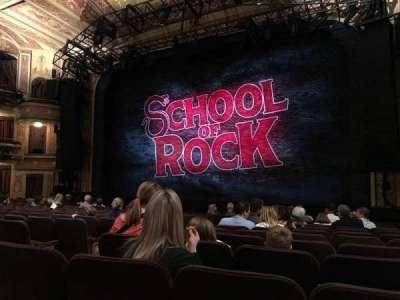 Winter Garden Theatre, sección: ORCH, fila: O, asiento: 8