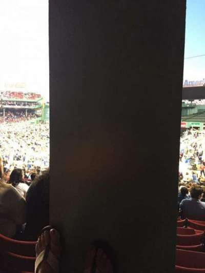 Fenway Park, sección: Grandstand 6, fila: 1, asiento: 7