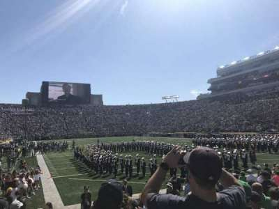 Notre Dame Stadium, sección: 3, fila: 12, asiento: 12
