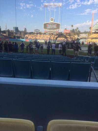 Dodger Stadium, sección: 5FD, fila: B, asiento: 8