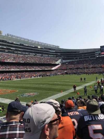 Soldier Field, sección: 146, fila: 11, asiento: 8