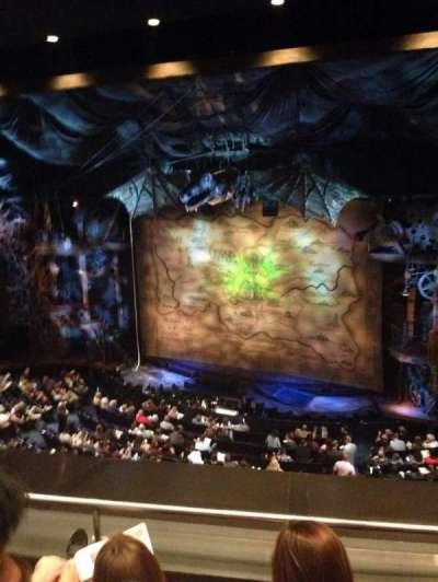 Gershwin Theatre, sección: Rear Mezzanine R, fila: C, asiento: 10
