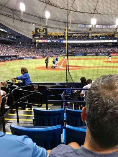 Tropicana Field, sección: 110, fila: K, asiento: 1,2