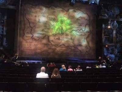 Gershwin Theatre, sección: Orchestra, fila: H, asiento: 105