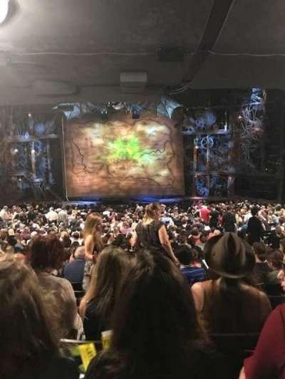 Gershwin Theatre, sección: Orchestra, fila: y, asiento: 114