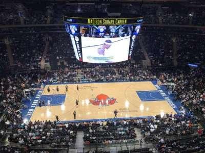 Madison Square Garden, sección: 313, fila: 1, asiento: 5