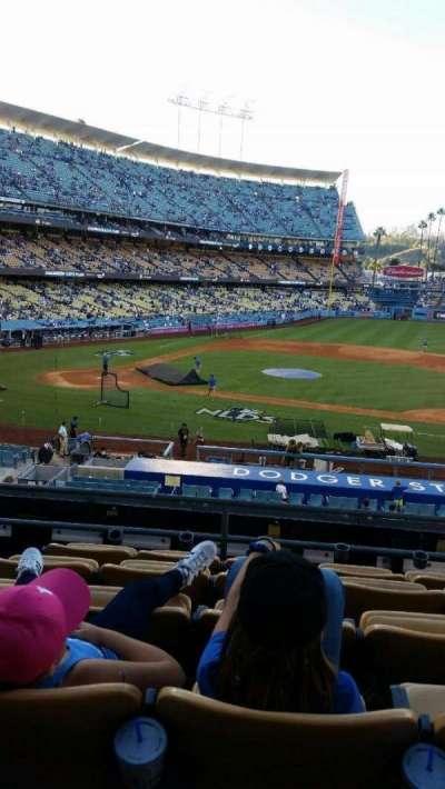 Dodger Stadium, sección: 123LG, fila: F, asiento: 4