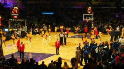 Staples Center, sección: 106, fila: 18