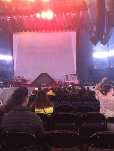 Oracle Arena, sección: C, fila: 17, asiento: 5