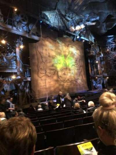 Gershwin Theatre, sección: ORCH, fila: H, asiento: 27