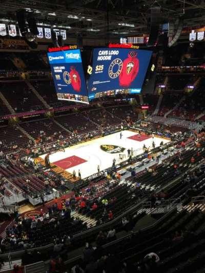 Quicken Loans Arena, sección: 222, fila: 1, asiento: 9