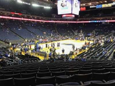 Oracle Arena, sección: 105, fila: 17, asiento: 18