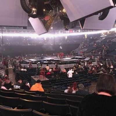 Oracle Arena, sección: 110, fila: 8, asiento: 2