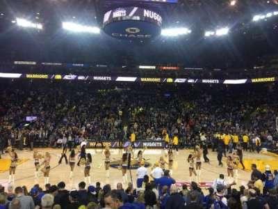 Oracle Arena, sección: 102, fila: 14, asiento: 2