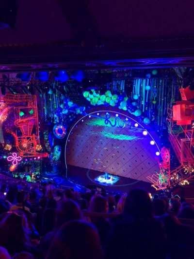 Palace Theatre (Broadway), sección: Rear Mezanine Right, fila: L, asiento: 8