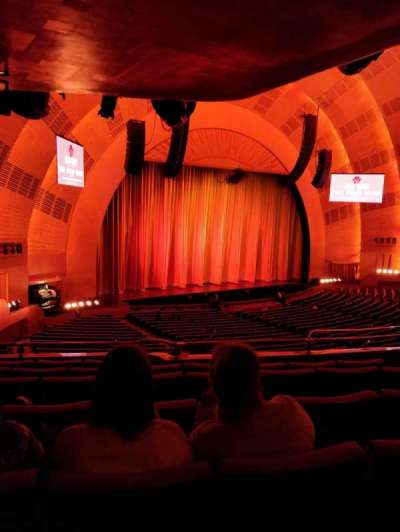 Radio City Music Hall, sección: 1st Mezzanine 7, fila: E, asiento: 709