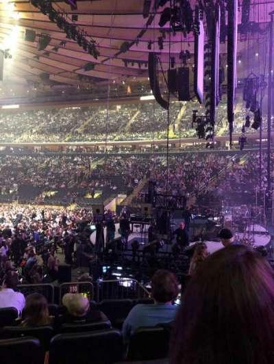 Madison Square Garden, sección: 110, fila: 10, asiento: 5