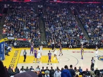 Oracle Arena, sección: 102, fila: 20, asiento: 2