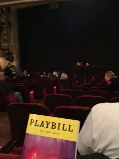 Neil Simon Theatre, sección: Orchestra Right, fila: R, asiento: 6