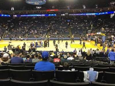 Oracle Arena, sección: 128, fila: 12, asiento: 6