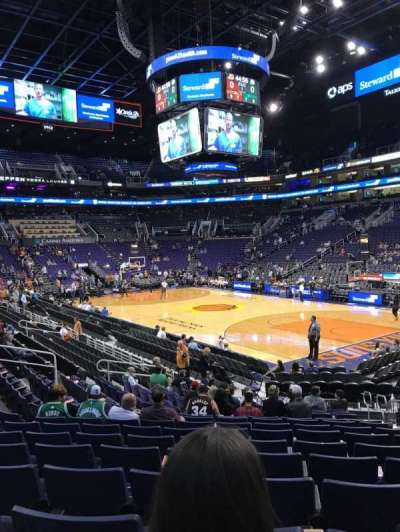 Talking Stick Resort Arena, sección: 111, fila: 15, asiento: 8