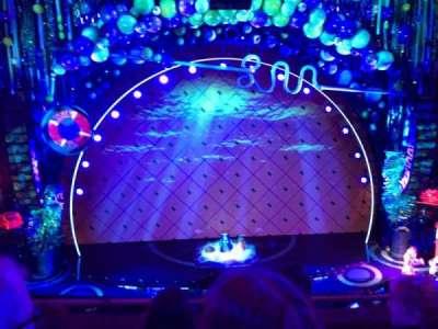 Palace Theatre (Broadway), sección: Mezz, fila: B, asiento: 106