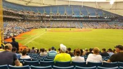 Tropicana Field, sección: 142, fila: FF, asiento: 8