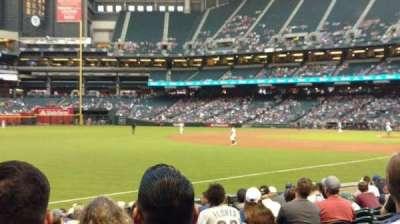 Chase Field, sección: 133, fila: 14, asiento: 17