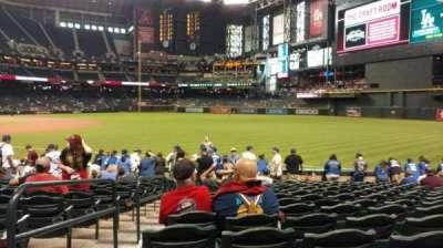 Chase Field, sección: 111, fila: 16, asiento: 20