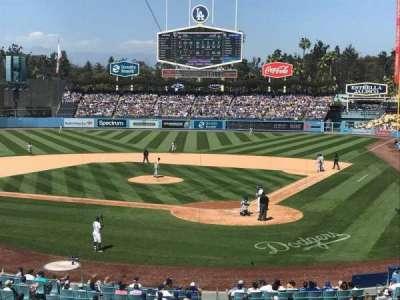 Dodger Stadium, sección: 111LG, fila: B, asiento: 1