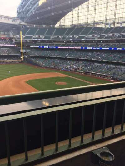 Miller Park, sección: 342, fila: 1, asiento: 10