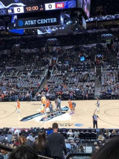 AT&T Center, sección: 107, fila: 25, asiento: 1