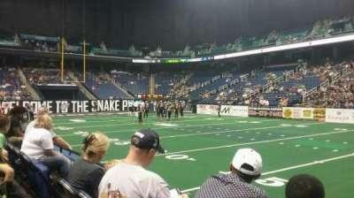 Greensboro Coliseum, sección: 111, fila: BB, asiento: 8
