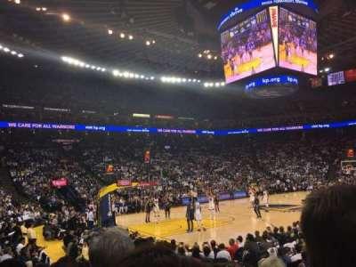 Oracle Arena, sección: 119, fila: 7, asiento: 5