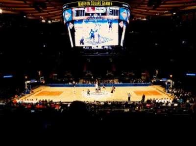 Madison Square Garden, sección: 107, fila: 20, asiento: 9