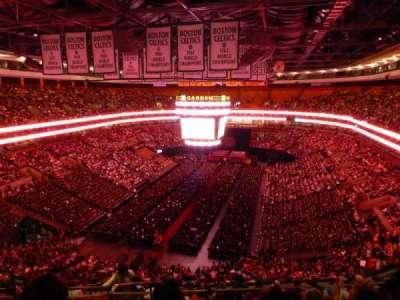 TD Garden, sección: BAL 307, fila: 15