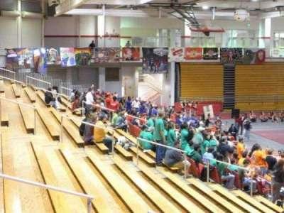 Pritchard Gymnasium, sección: 105, fila: J, asiento: 9